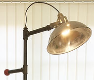Tall steel lamps