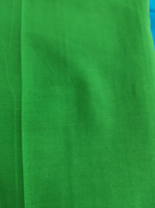 Polycotton remnant Green 1 and a half metre.