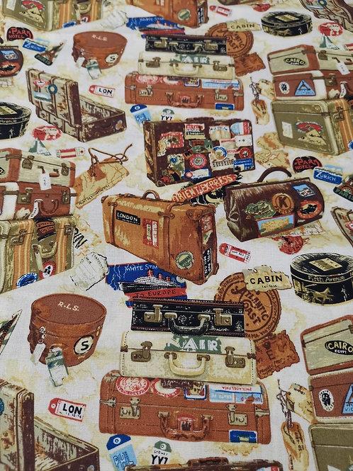 Quilting Cotton - Nutex - 80340 - Victorian Vintag - 103 - Baggage