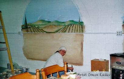 Artist, Muralist, painter, wall art, decorating with paint,