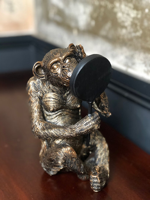 Antiqued Bronze Vain Monkey Figure