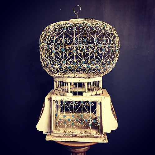 Antique French Handmade Birdcage