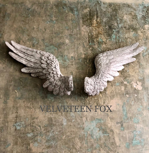 Pair of Antique White Angel Wings