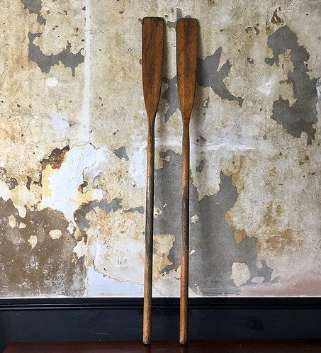 Vintage Wooden Oars