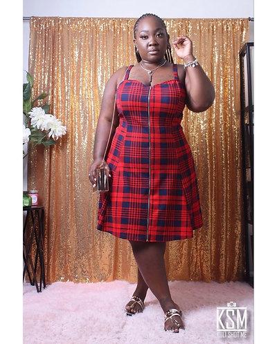 School Girl Plaid Dress