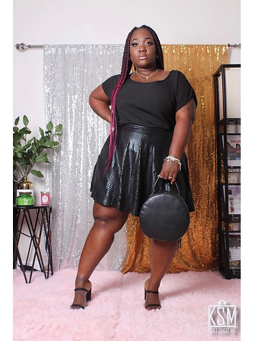 Snakeskin Black Skirt