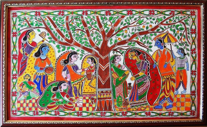 THE CURIOUS STORY OF INDIAN MADHUBANI PAINTINGS