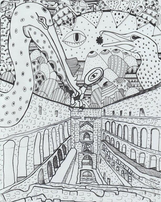"""The Baoli Invasion"" by Artist Shantala Palat"