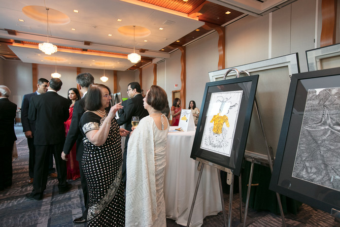 """India's Famous Contemporary Artist Shantala Palat's Paintings """"Are you all there?"""" travel"""
