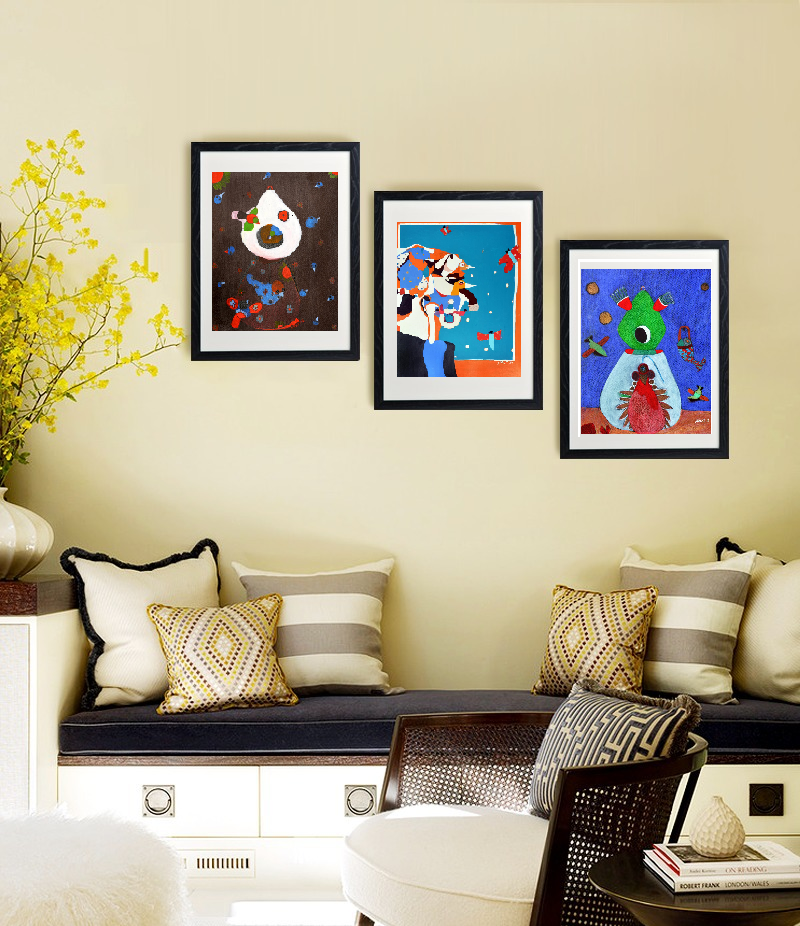 The image displays the popular paintings of artist Shantala Palat