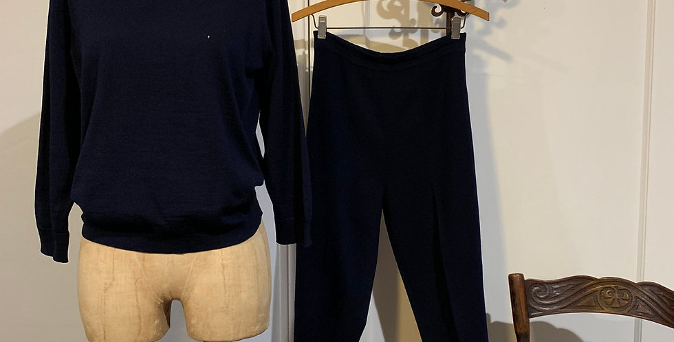 Vintage Knit Pant Set by Marchesa di Grésy