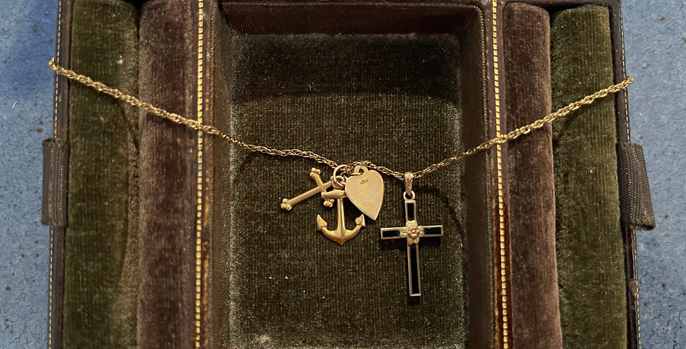 10K Gold Chain and Charms