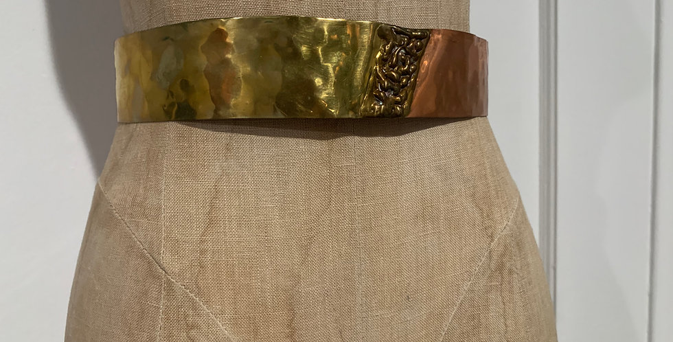 Gold and Bronze Metal Belt