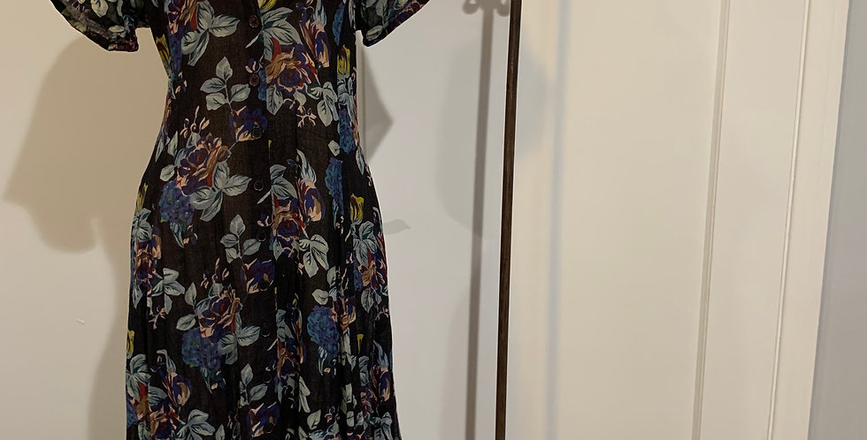 Vintage Cotton Floral Dress