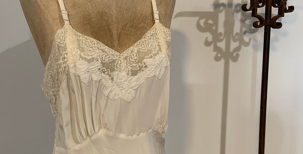 Vintage Slip with Lace Detail