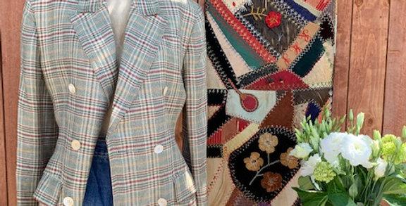 Vintage Plaid Celine Blazer