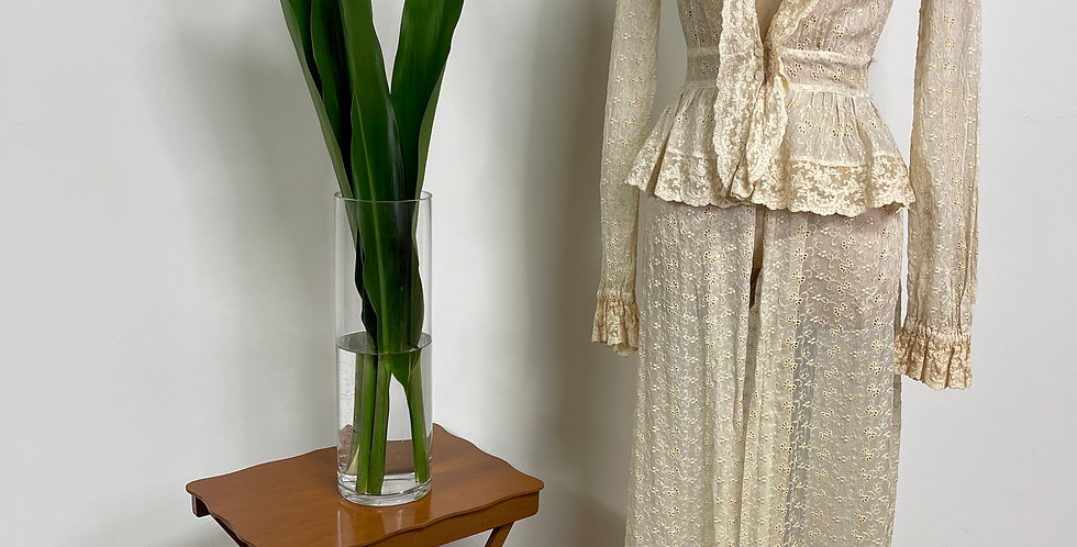 Antique Lace Duster Robe