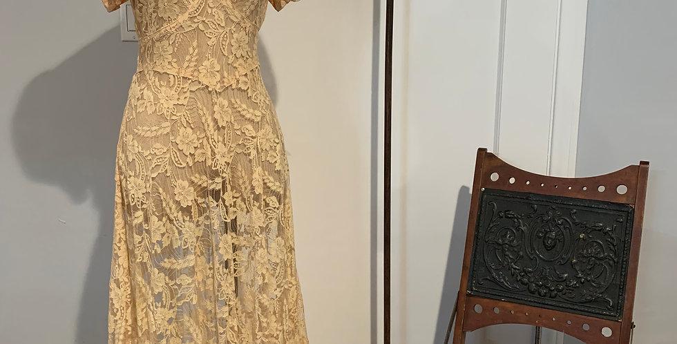1930's Lace Dress