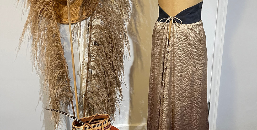 Beautiful Silk Ombré Maxi Skirt