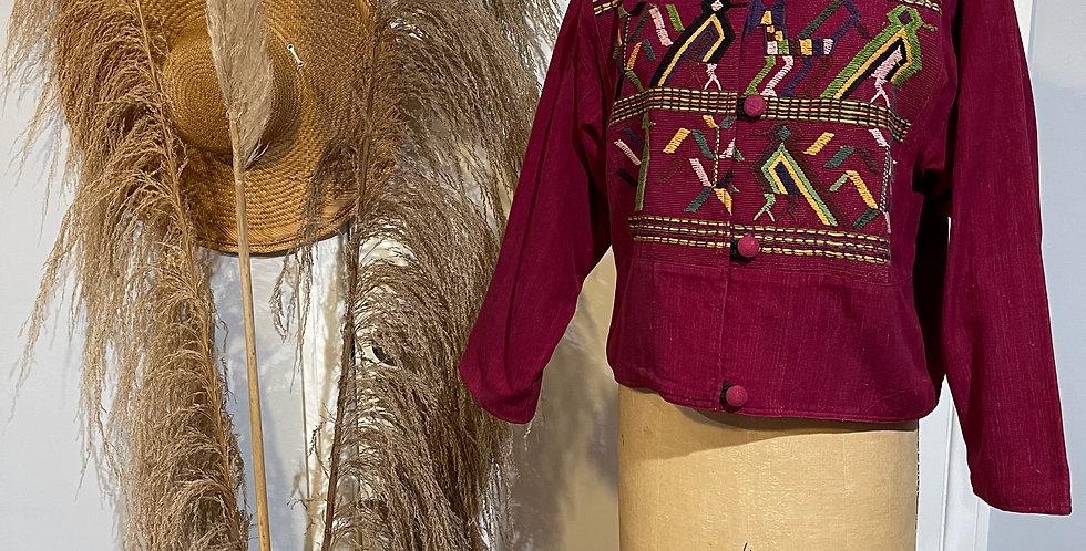 Vintage Guatemalan Embroidered Jacket