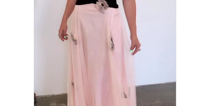 1930's Flower Appliqué Gown