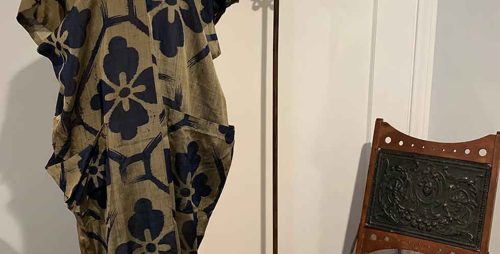 Antique Silk Flower Dress
