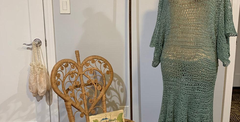Vintage Net Crochet Dress