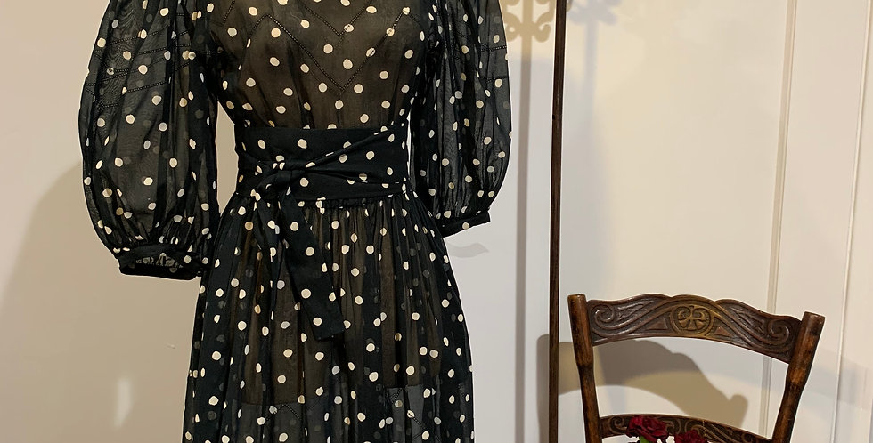 Vintage Albert Nipon Polka Dot Dress