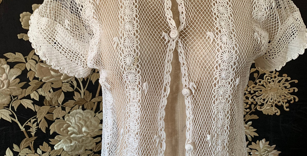 Vintage Crochet Knit Cardigan