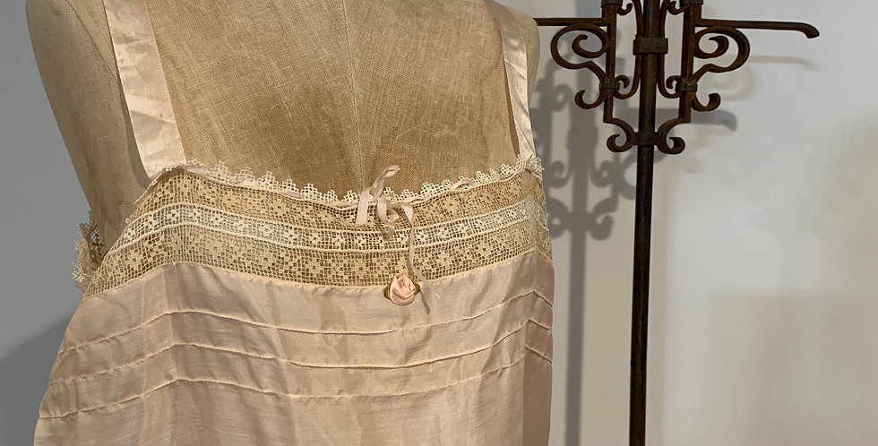 Antique Silk & Lace Camisole
