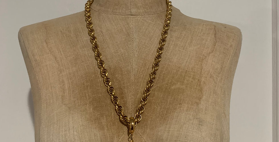 Vintage Gold Monet Rope Chain