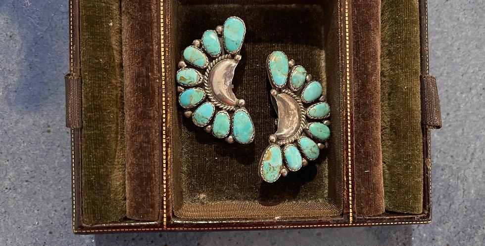 Vintage Navajo Turquoise Earrings