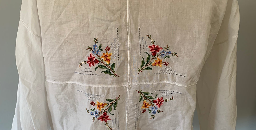 English Cotton Embroidered Shrug