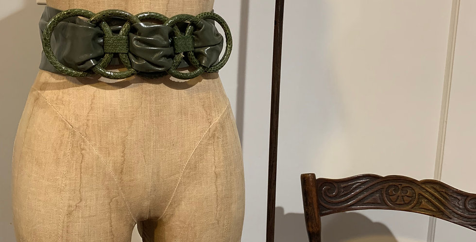 Vintage Leather Snakeskin Belt