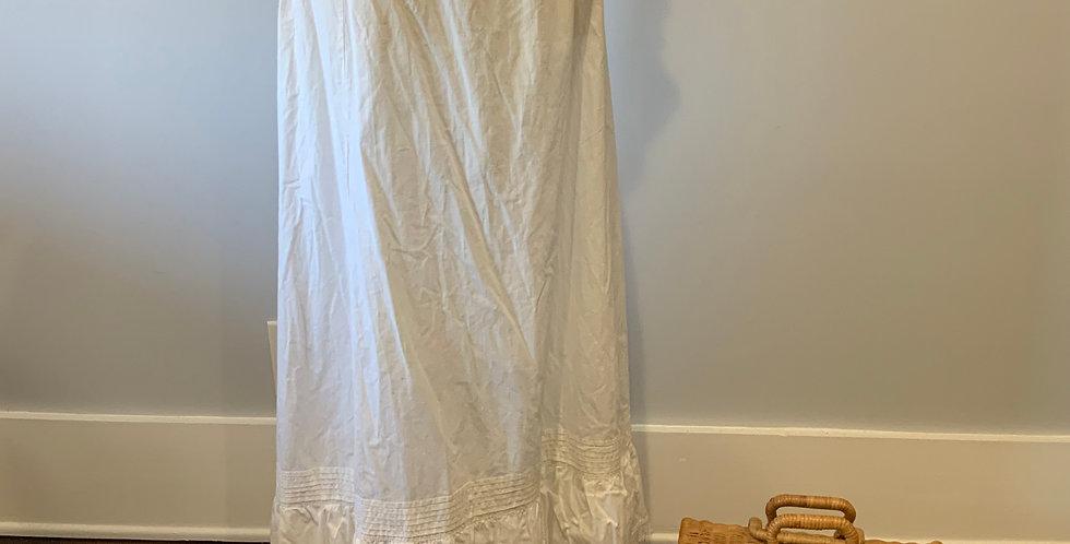 Edwardian Petticoat with Lace Trim