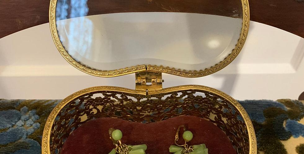 """Vintage """"Jade Cluster"""" Earrings"""