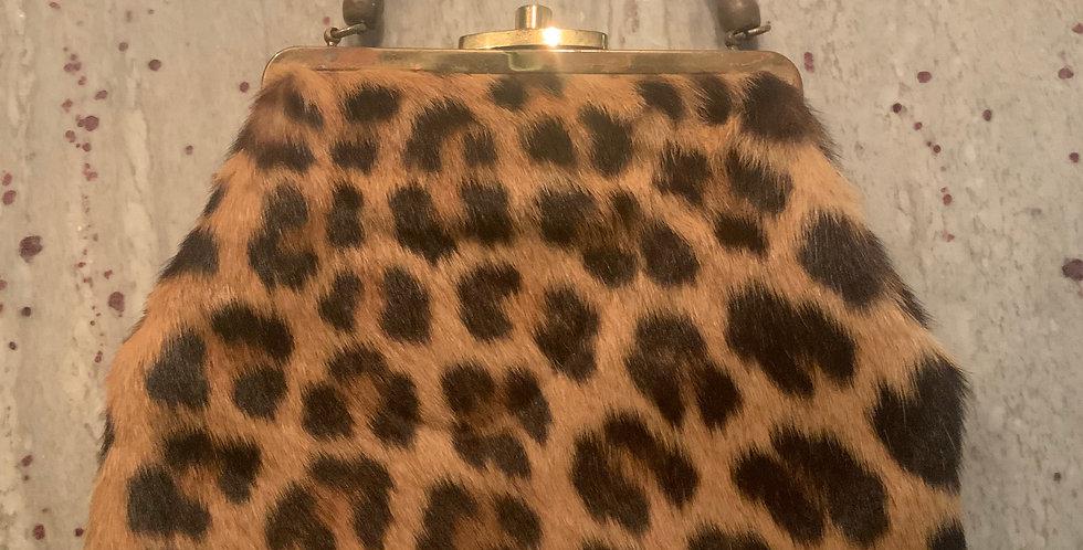 Vintage Cheetah Print Handbag