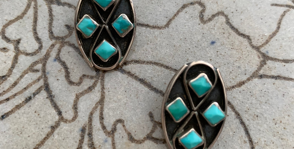 Zuni Turquoise Earrings