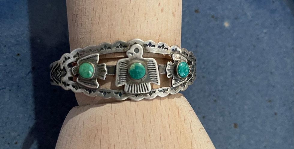 Vintage Navajo Turquoise Fred Harvey Era Cuff