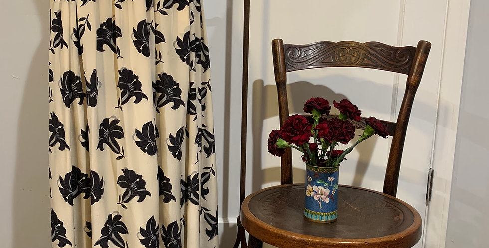 Vintage Silk Valentino Maxi Skirt