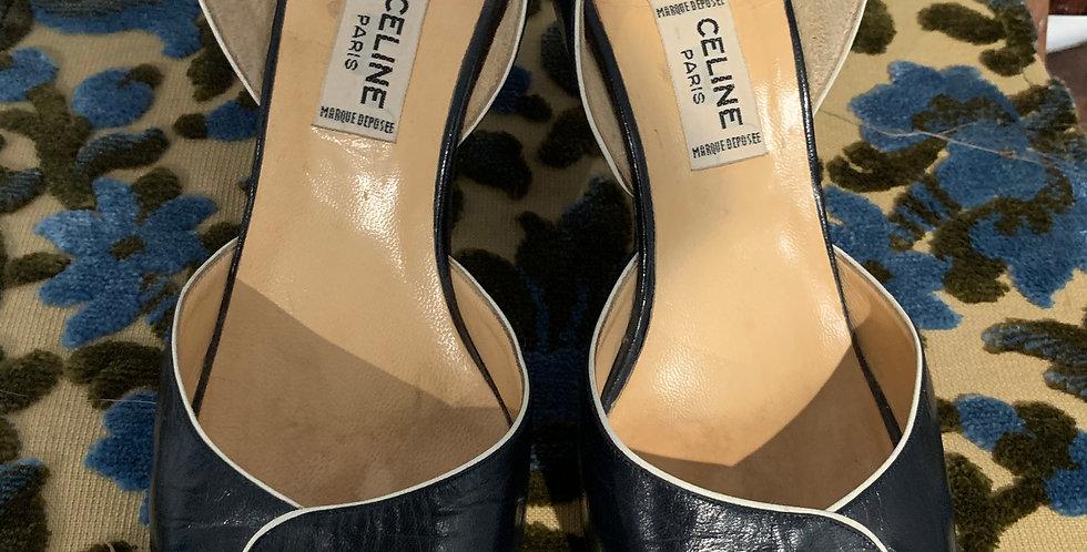 Celine Paris Leather Sandals