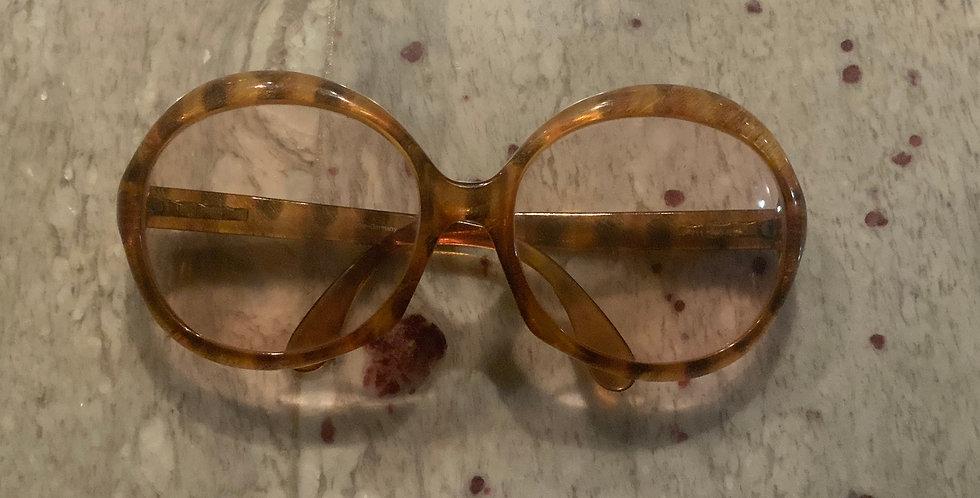 Tortoise Frame Large Rim Eyeglasses