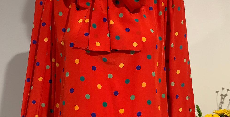 Vintage Silk Yves Saint Laurent Blouse