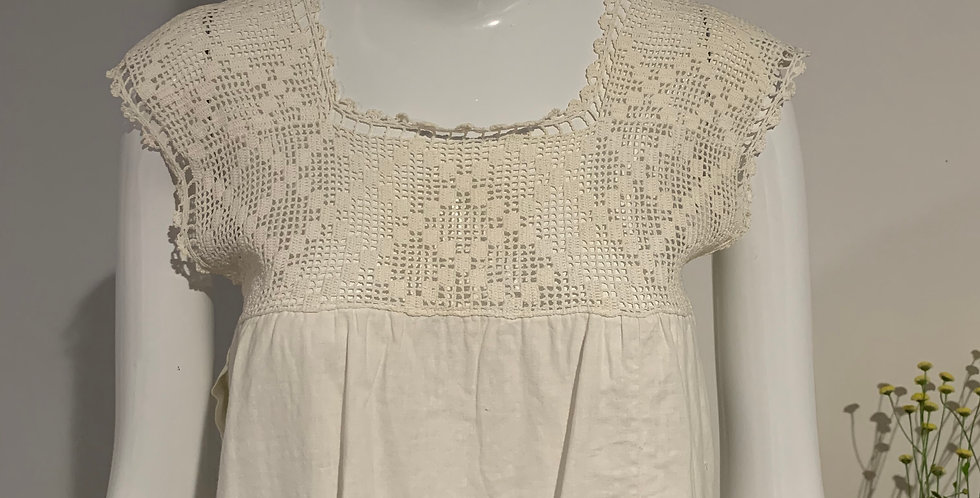 Antique Cotton and Lace Top