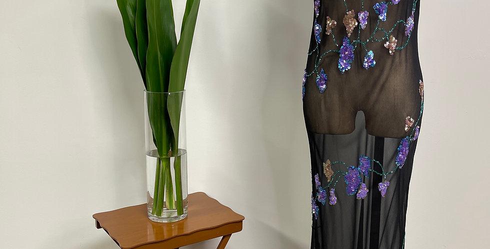 Chiffon Beaded Slip Dress
