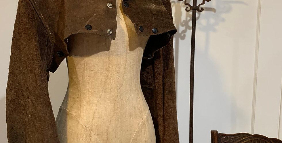 Vintage Cropped Leather Welders Jacket