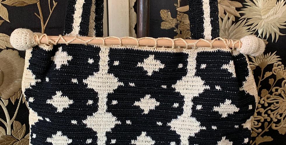 Vintage Crochet Hand Bag