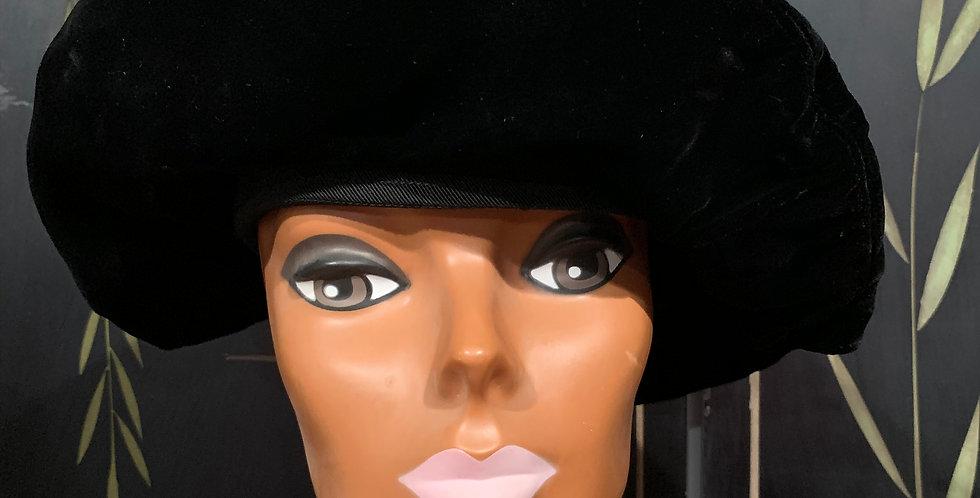 Vintage Velvet Beret Hat
