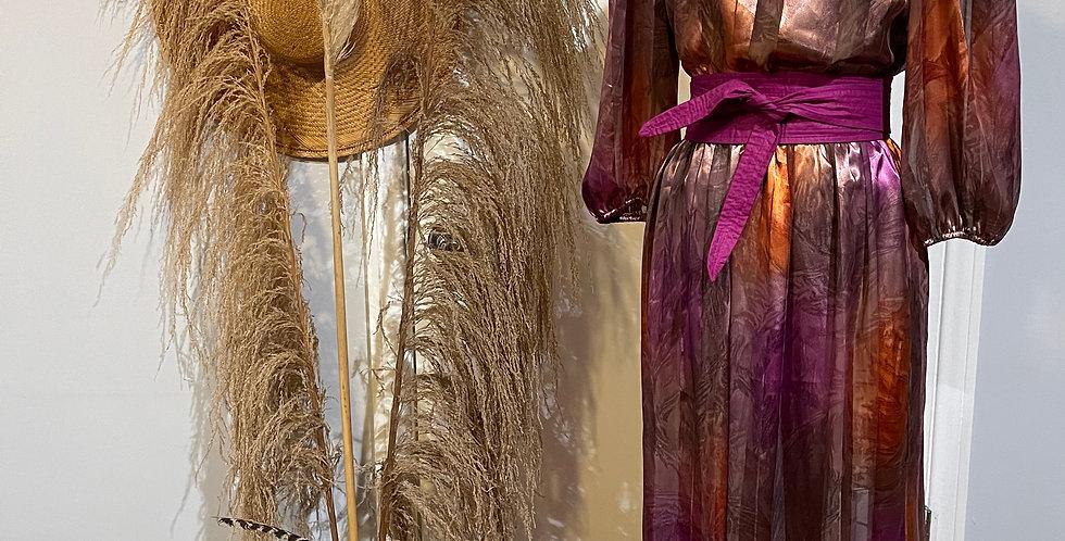 Vintage Ombré Sheer Satin Dress