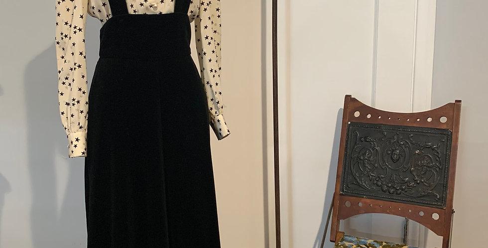 Vintage Velvet Apron Style Dress